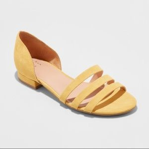 Women's open toe flats Target A New Day size 5